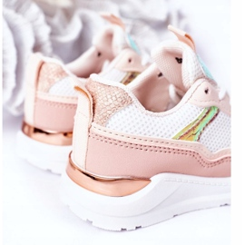 Calçados infantis esportivos tênis rosa hora do jogo branco 1