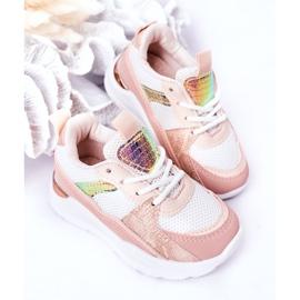 Calçados infantis esportivos tênis rosa hora do jogo branco 5