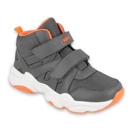 Sapatos infantis Befado 516X050 laranja cinza 1