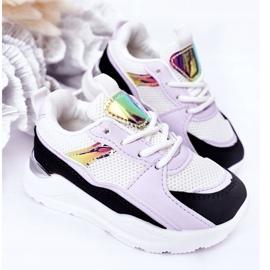 Sapatilhas de tênis para crianças, preto-violeta, hora do jogo branco tolet 3