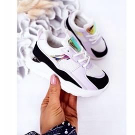 Sapatilhas de tênis para crianças, preto-violeta, hora do jogo branco tolet 2