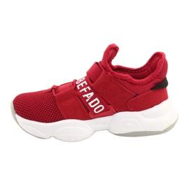 Calçados infantis Befado 516Y064 branco vermelho 2