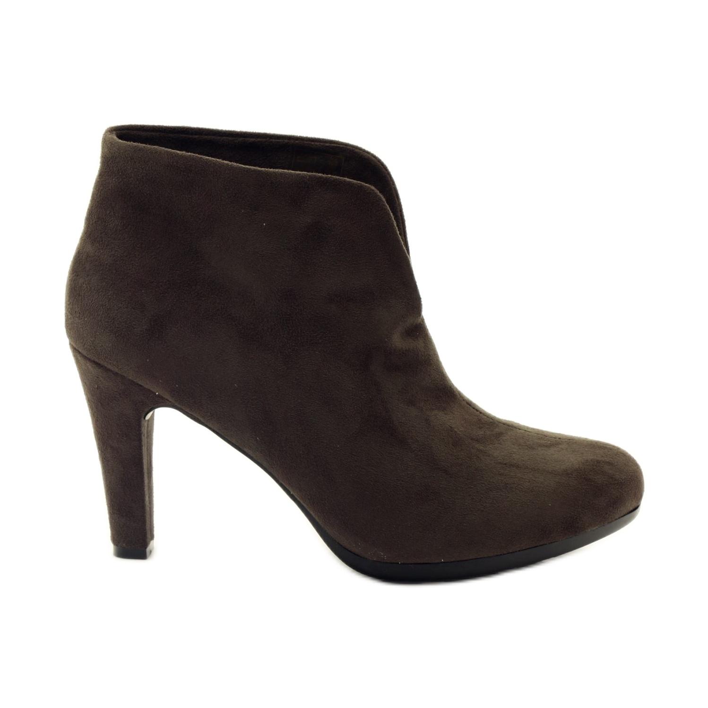 Calçados femininos marrons Hengst 214702